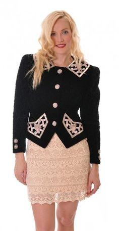 Chanel-style Velvet Bead Jacket   Damsel Vintage