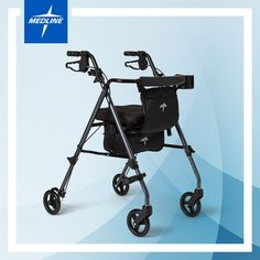 Elite Rolling Walker by Medline Graphite