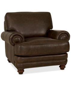 """Wyatt Leather Chair 45""""W x 40""""D x 39""""H"""