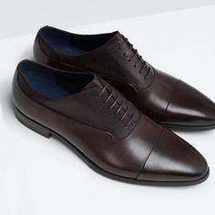 Zapatos de piel marron de zara