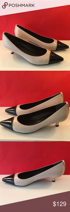 🆕STUART WEITZMAN LOW HEELS 💯AUTHENTIC ❤️STUART WEITZMAN LOW HEELS 💯AUTHENTIC ! STUNNING AND STYLISH ALWAYS ON TREND! NEVER WORN. THEY ARE PALE TAN AND BLACK SIZE 6.5. THE HEEL HEIGHT IS 1.75 INCHES. THOUGH THEY HAVE NEVER BEEN WORN THEY HAVE A COUPLE OF MODEST SMUGES FROM SITTING IN VLOSET . OVERALL ALMOST LIKE NEW. Stuart Weitzman Shoes Heels
