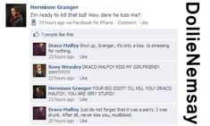 Dramione Facebook - Draco kissed Hermione by DollieNemsay.deviantart.com on @DeviantArt