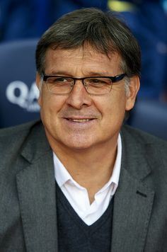 Head coach Gerardo Martino of FC Barcelona looks on prior to the start the La Liga match between FC Barcelona and Valencia CF at Camp Nou on February 1, 2014 in Barcelona, Catalonia.