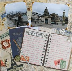 Bonjour! I have a double page layout to share with you today! I have had these papers stashed away FOREVER from K&Company and I was so ex...