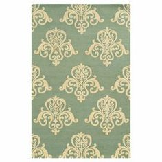 Stylishly anchor your living room seating group or master suite with this hand-tufted wool rug, showcasing a damask-inspired motif in light blue.  Product: RugConstruction Material: New Zealand woolColor: Light blueFeatures: Hand-tufted Note: Please be aware that actual colors may vary from those shown on your screen. Accent rugs may also not show the entire pattern that the corresponding area rugs have.Cleaning and Care: Vacuum regularly without beater bar. Spot clean. Rug pad recommended.