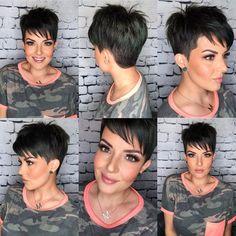 Short Dark Hair, Really Short Hair, Short Sassy Hair, Short Hair Cuts For Women, Estilo Tomboy, Short Hair Images, Short Hair Undercut, Short Hair Trends, Cute Short Haircuts