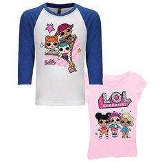 MCJS Girls Dress Doll Surprised.Printed Design Casual Loose Pajamas Nightgown Sleepwear