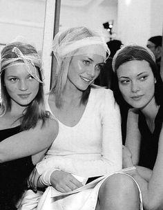 Kate Moss, Amber Valletta & Shalom Harlow, 90s