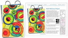 Art Projects for Kids: Delaunay Art Journal Page. How to make a Sonia Delaunay… Art Sub Plans, Art Lesson Plans, Sonia Delaunay, Robert Delaunay, Draw Tutorial, Artist Project, 4th Grade Art, Ecole Art, Math Art