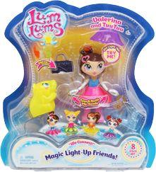 Trindi And Foo Foo 8 Piece Set Doll Lum Lums Magic Light-Up Friends