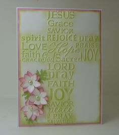 Embossed and inked with flowers