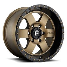 Fuel Wheels Podium Matte Bronze with Black Lip Off-Road Rims Off Road Wheels, Wheels And Tires, Jeep Wheels, Toyota Tacoma 4x4, Toyota 4runner, Truck Rims, Car Rims, Bronze Wheels, Wheel And Tire Packages