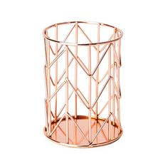 U Brands Pencil Cup, Wire Metal, Copper U Brands