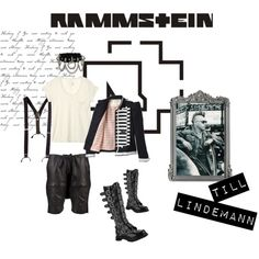 Look inspirado no Till Lindemann do Rammstein.