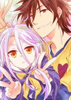 No Game No life ~ Shiro  Sora.  I started this anime last night and so far I think it's good. The artwork is stunning and it makes it better that the voice actors for Kirito from SAO and Inori from Guilty Crown are the two main characters.