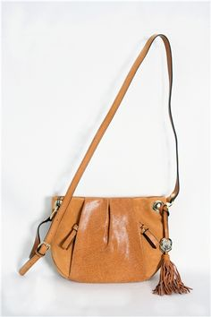 Crossbody Purse with Gold Hardware