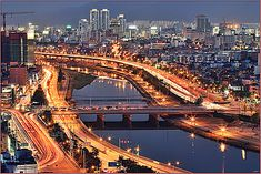 Daegu South Korea. This could be the bridge I took to work when I was over there.