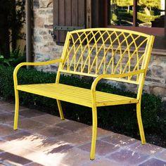 Innova Hearth and Home Lancaster Steel Park Bench & Reviews | Wayfair