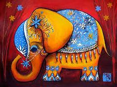 Elephant painting - Cute Elephant DIY Painting By Numbers Colorful Elephant, Elephant Love, Little Elephant, Indian Elephant Art, Elephant Print, Fabric Painting, Oil Painting On Canvas, Diy Painting, Painting Classes