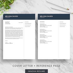 Reference Page Resume Template Best Creative Resume Template For Word  Modern Resume Design  Cv .