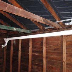 gutter installed inside garage in home inspection