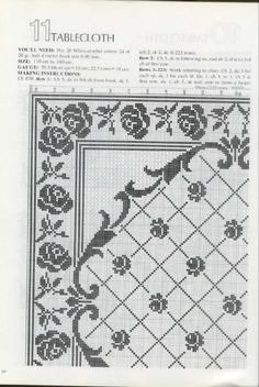 tons of filet crochet charts Crochet Bedspread, Crochet Tablecloth, Crochet Doilies, Cross Stitch Designs, Cross Stitch Patterns, Knitting Patterns, Crochet Patterns, Filet Crochet Charts, Crochet Diagram
