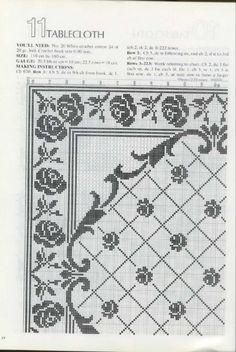 roses filet crochet
