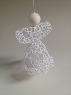 Tatting pattern tatted angel for shuttle tatting by SILHUETTE