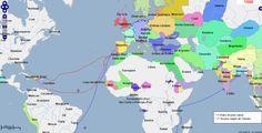 Estude mais de 5 mil anos da história mundial com mapas interativos