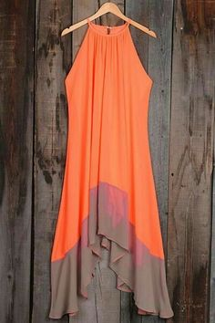Your maxi's flyin' high. Fresh candy color can not be missed. Splicing design is just so flattering to cover hot body.This casual comfy dress looks great with bag or sneakers for going out. Cheap Maxi Dresses, Halter Maxi Dresses, Comfy Dresses, Cute Dresses, Beautiful Dresses, Cute Outfits, Summer Dresses, Maxi Skirts, Summer Maxi