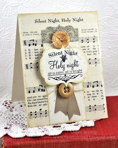 Silent Night Card by Dawn McVey for Papertrey Ink (September 2012)