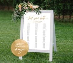 Editable PDF Seating Chart Find Your Table Calligraphic Wedding Seating Chart Template DIY Seating Board Table Printable Gold #DP130_58 by DreamPrintable on Etsy  #wedding #instant #download #printable #image #graphic #digital #reception_sign #PDF #Calligraphy #Sign #events #wedding_printable #wedding_design #Template #wedding_ceremony #wedding_sign #events_design