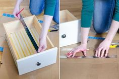 Don't toss those empty cardboard boxes! From DIY drawer dividers and craft projects, to kids playhouses, cardboard boxes have so many amazing new uses. Make drawer dividers. Cardboard Drawers, Big Cardboard Boxes, Diy Drawers, Cardboard Crafts, Organizing Drawers, Cardboard Storage, Organization Hacks, Fabric Storage Boxes, Decorative Storage Boxes