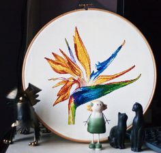 Digital item Strelitzia flower cross stitch pattern by LaMariaCha, $6.50