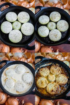 Asiago Roasted Onions Recipe : Sweet and tender roasted onions in a cream asiago sauce covered in meted cheese! Onion Recipes, Vegetable Recipes, Vegetarian Recipes, Cooking Recipes, Grill Recipes, Mushroom Recipes, Roasted Onions, Baked Onions, Snacks