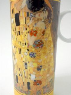 Gustav Klimt Tall Coffee Mug The Kiss 1908 Painting Austrian Painter Art Nouveau