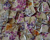 Mosaic Tiles - China - Chintz - Heather - Flowers - Vintage Broken Plate -Tessera