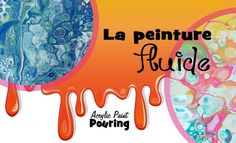 In this demonstration, you'll discover interesting cells that you can create by pouring acrylic paint from a cup onto a canvas. Abstrait, Paint Run, Mixed Media, Canvas, Pouring Painting, Flower Drawing, Art
