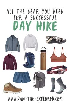 Wondering what hiking gear you need for your next adventure? Take a look at this hiking gear guide created by hiker Dani Rodriguez AKA Dani The Explorer! Hiking Gear Women, Best Hiking Gear, Camping Outfits For Women, Hiking Bag, Hiking Boots Women, Hiking Tips, Camping And Hiking, Best Hiking Shoes, Backpacking Gear