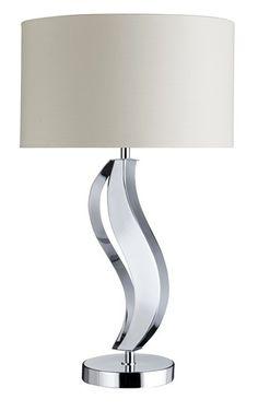 Stolní lampa SEARCHLIGHT SL 6417CC | Uni-Svitidla.cz Moderní pokojová #lampička vhodná jako doplňkové osvětlení domácnosti či kanceláře #modern, #lamp, #table, #light, #lampa, #lampy, #lampičky, #stolní, #stolnílampy, #room, #bathroom, #livingroom