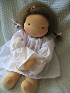 Waldorf Baby Doll via Etsy. From OhMyDolling, in Georgia, USA.