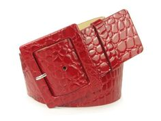 "2 1/4"" Wide Ladies High Waist Croco Print Patent Leather Fashion Belt $15.95 - $17.57"