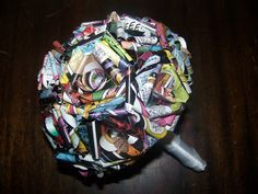 I love the idea of making my bouquet out of some of Dans favorite comic books (not his personally!!)