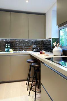 Dramatic Bronze Splashback Tiles Via Heart Home Blog. Kitchen InteriorKitchen  DesignApartment ...