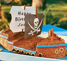 Ahoy matey! Pirate ship cakes are surprisingly simple to make.