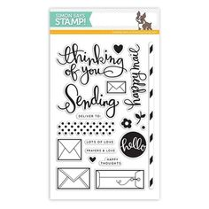 Simon Says Clear Stamps SENDING HAPPY THOUGHTS sss101429