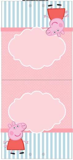 table card, etc. Invitacion Peppa Pig, Cumple Peppa Pig, Pig Birthday, 2nd Birthday Parties, Birthday Ideas, Pig Party, Baby Party, Peppa Pig Printables, Peppa Pig Invitations