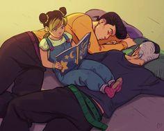 Josuke & Okuyasu babysitting Jolyne