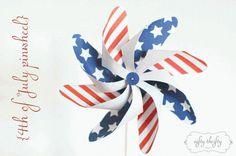 DIY  4th of july pinwheel