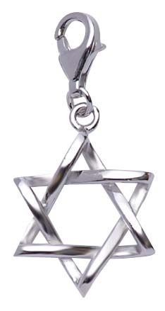 Sterling Silver Star of David Charm